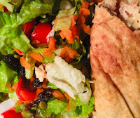 Salad and Chicken Tortillas