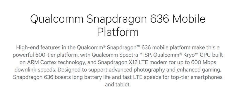 Qualcomm Announces Snapdragon 636, A Midrange Chip With Kryo CPU