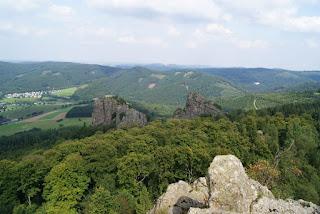 Blick auf die Bruchhauser Steine vom Felsstein aus