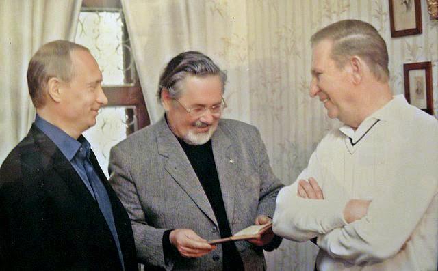 Путин и Кучма в доме Чехова в Крыму