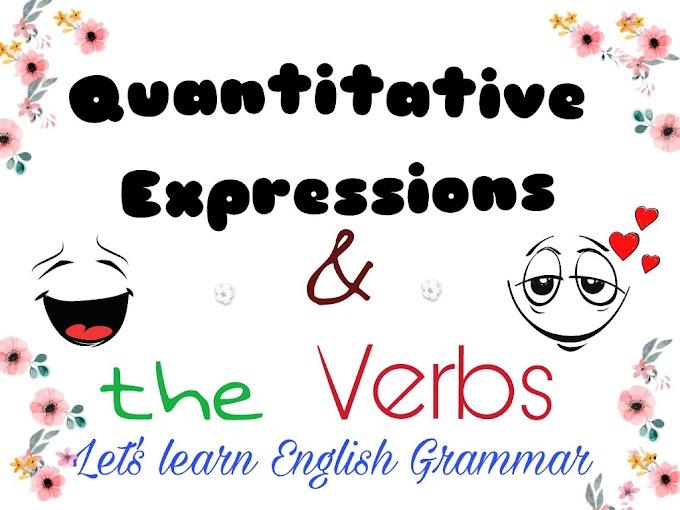 Quantitative Expressions And The Verbs