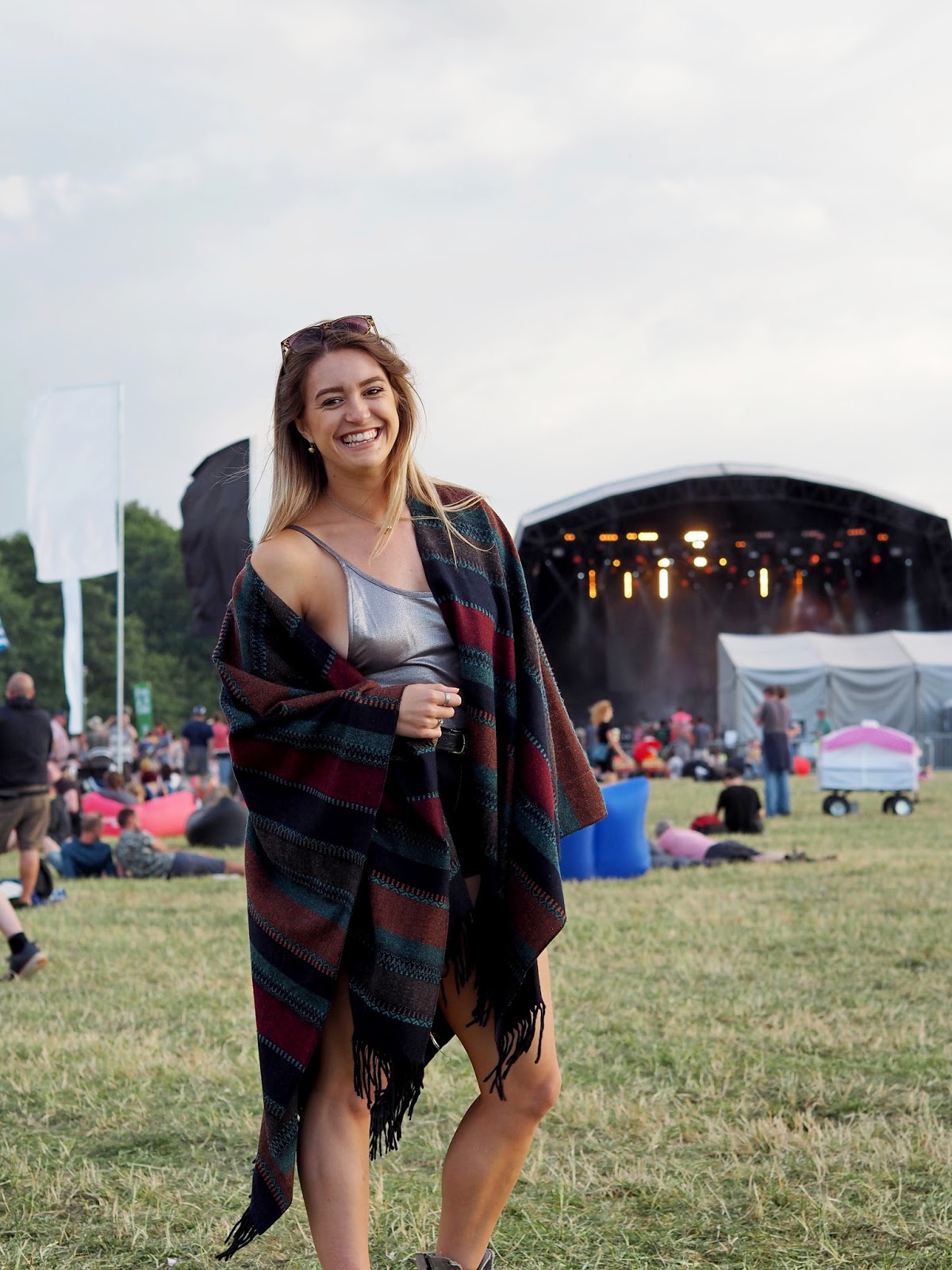Girl at Festival wearing a Cape