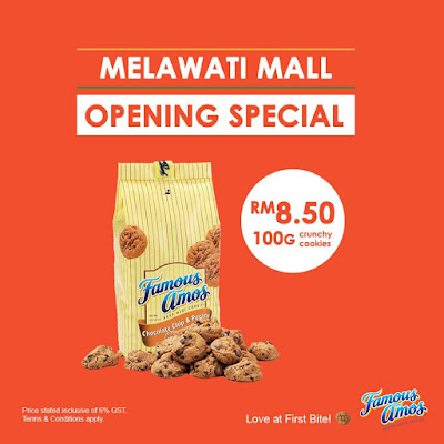 Famous Amos Malaysia Opening Special Discount Offer Promo
