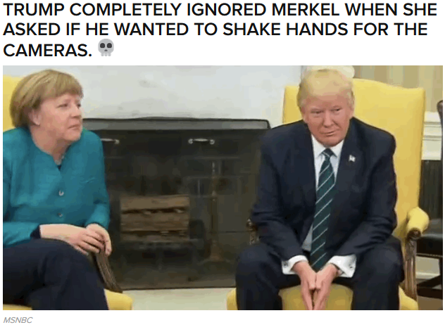 Trump Denied Angela Merkel A Handshake And It Was The Most Awkward Thing Ever