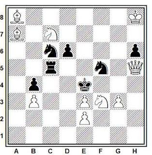 Problema de mate en 2 compuesto por Eeltje Visserman (1º Premio, Tijdschrift van den Koninklijken Nederlandschen Schaakbond 1941)