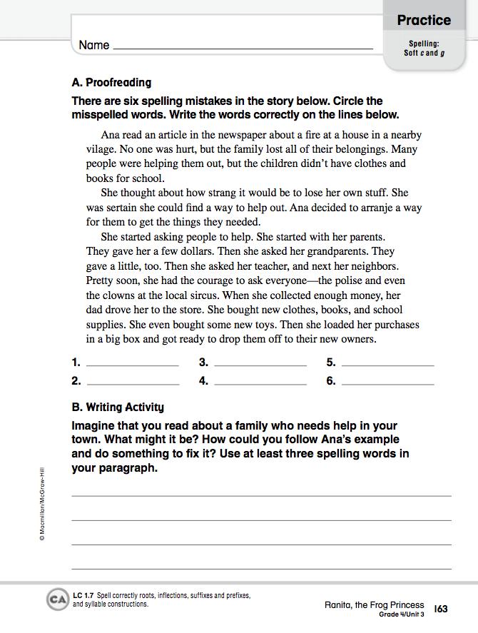 Homework 2012-2013: April 10 - Language Arts Worksheets