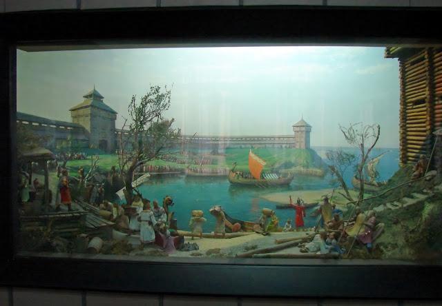 Диорама - крепость на берегу Днепра