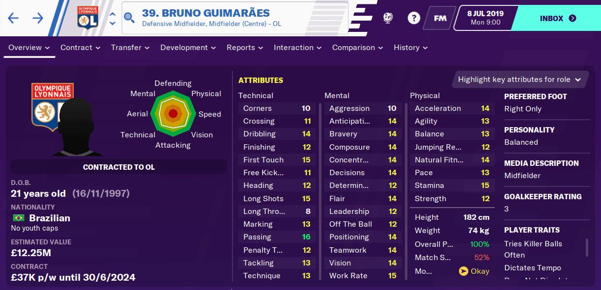 Bruno Guimaraes FM20