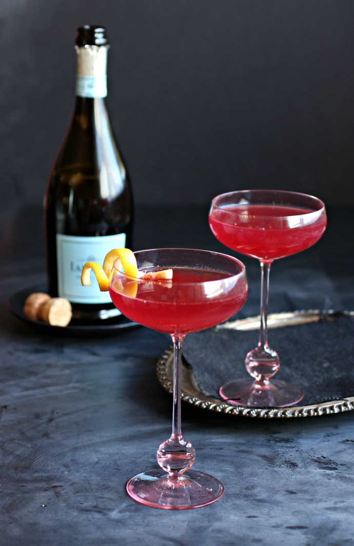 Cherry Lemon Drop Prosecco Fizz
