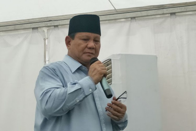 Prabowo Sampaikan Bela Sungkawa untuk Korban Pesawat Lion Air