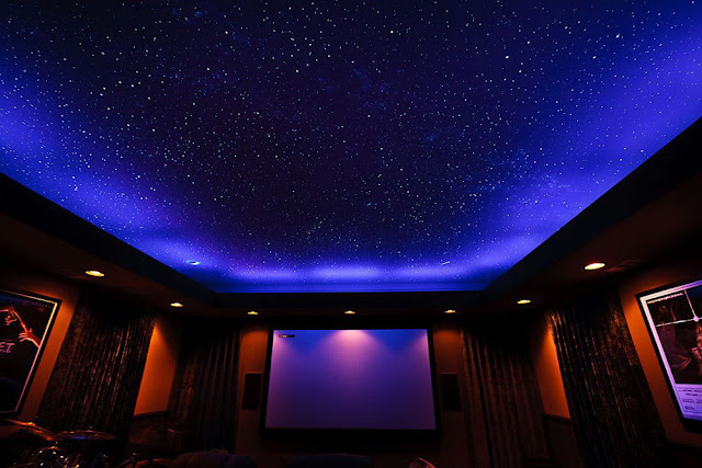 starry sky design with led strips or spot lights
