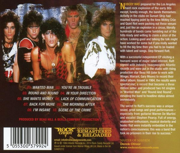 RATT - Out Of The Cellar [Rock Candy remastered] AccurateRip - back