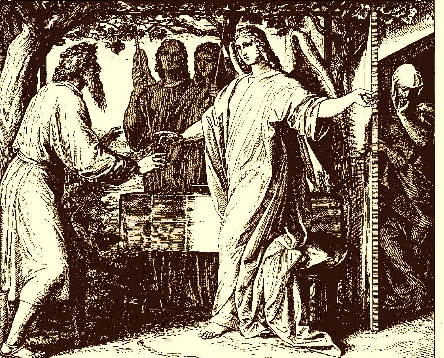 Schnorr von Carolsfeld: Abraham and Sarah Promised a Son