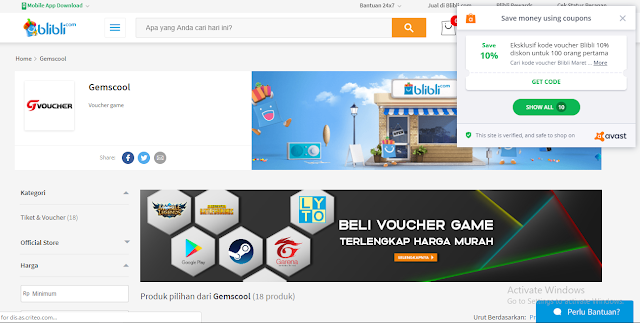 Beli Voucher Gemscool Game Online dulu genks!