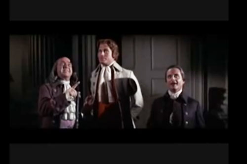 "Screenshot from the 1972 musical, ""1776"", about the 2nd Continental Congress and the Declaration of Independence"
