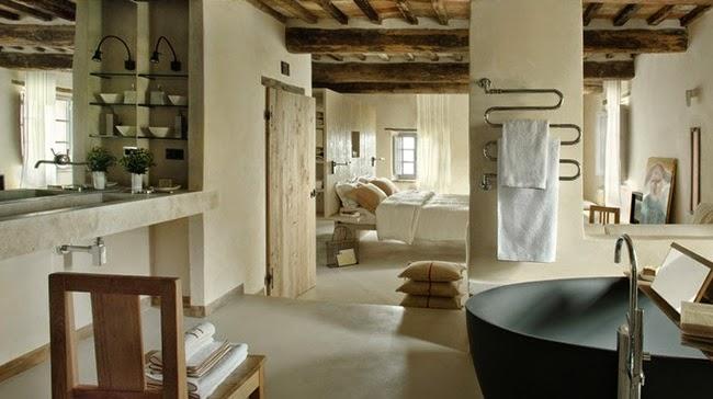 baño abierto a dormitorio