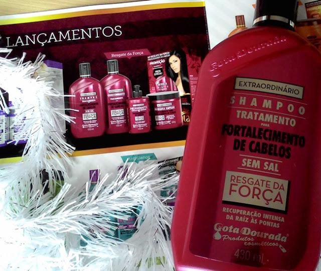 Gota Cosméticos, Shampoo, Condicionador, Cléo Moretti, Cabelo, Resenha, CBBlogers, Publipost, Recebido, Linha EXTRAORDINÁRIO Resgate da Força #Gota Cosméticos