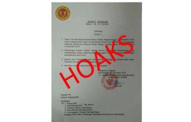 Waspada Hoaks! Beredar Surat Edaran BIN Minta Anggotanya Siaga Jelang Aksi Reuni 212