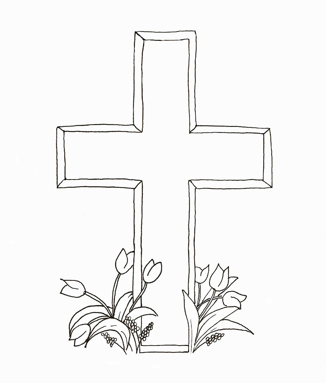 Easter Crosses Coloring Pages Easter Craft Stamps