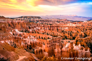 "Cramer Imaging's partially processed photo demonstrating the Sleeklens.com ""Through the Woods"" Lightroom preset workflow on Sunset at Bryce"