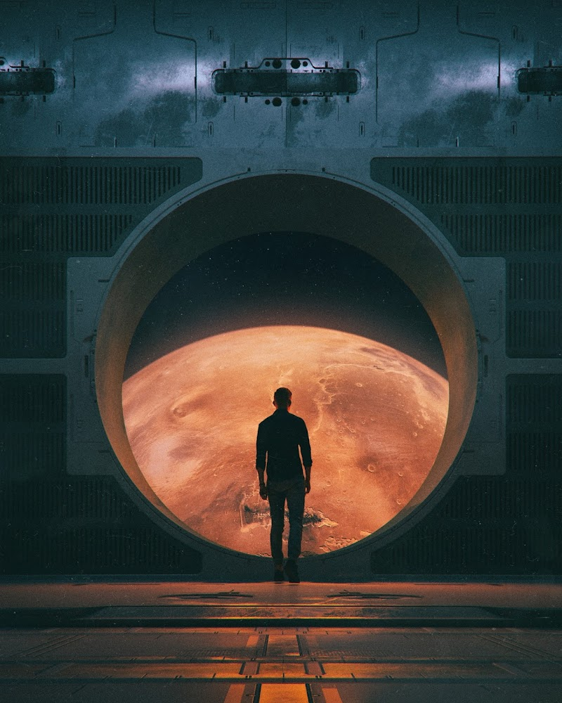 """New Home"" on Mars by Mike Winkelmann (beeple)"