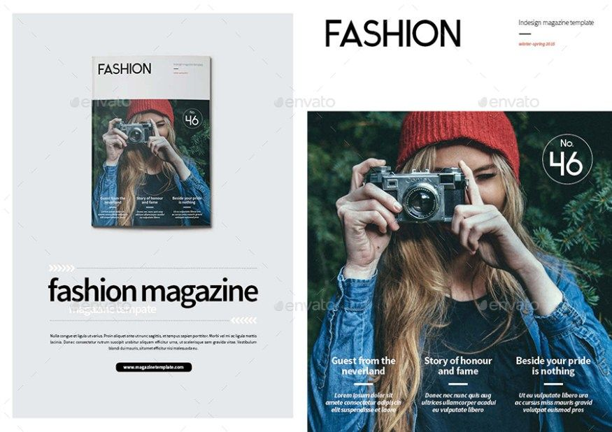 28 Print Magazine Templates  Covers - Photoshop PSD InDesign