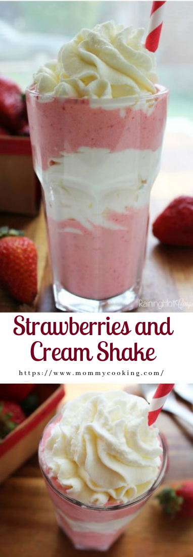 Strawberries and Cream Shake #drink #smoothierecipe