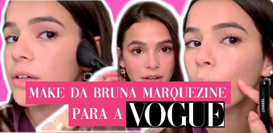 O vídeo onde a atriz brasileira Bruna Marquizine ensina sua make do dia a  dia e make que ela geralmente usa na praia, para a Vogue Americana, está  bombando ... 6f57135974