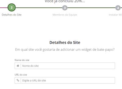digite o endereço do blog para chat