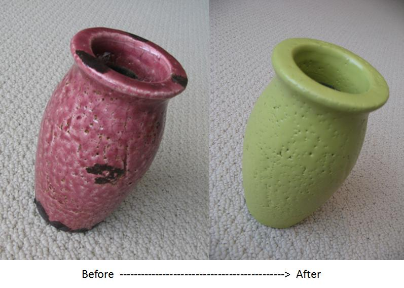 Painting Glazed Ceramic Vase