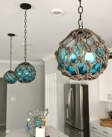 Fishing Glass Floats Net Hanging Lamp Pendant Lights