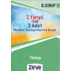 Zirve 8.Sınıf 2.Yarıyıl TEOG Türkçe 3 Adet Deneme Sınavı (2016)