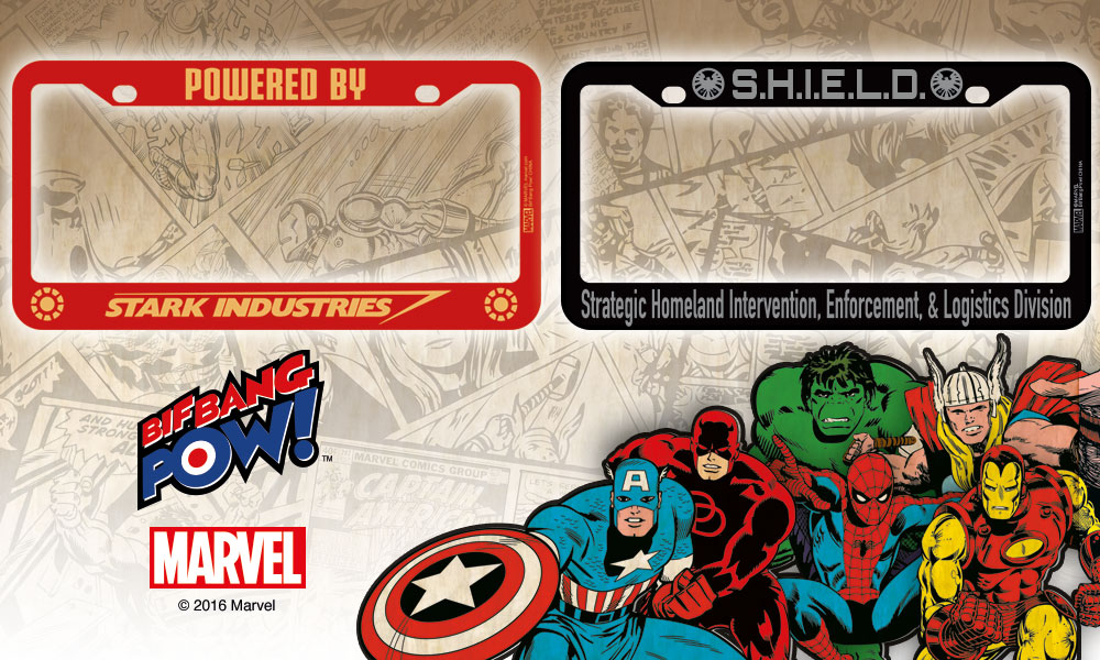 Bifbangpow New Marvel Avengers License Plate Frames