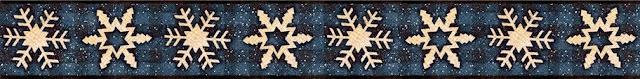 Copos de Nieve: Orillas para Scrapbooking.