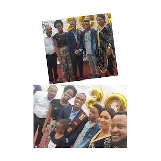 Saidi Balogun, Fathia Williams reunite for their son's graduation