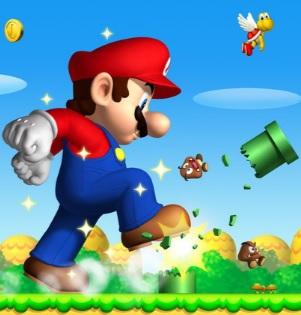 Imagen de Mario Bros pisando obstáculos