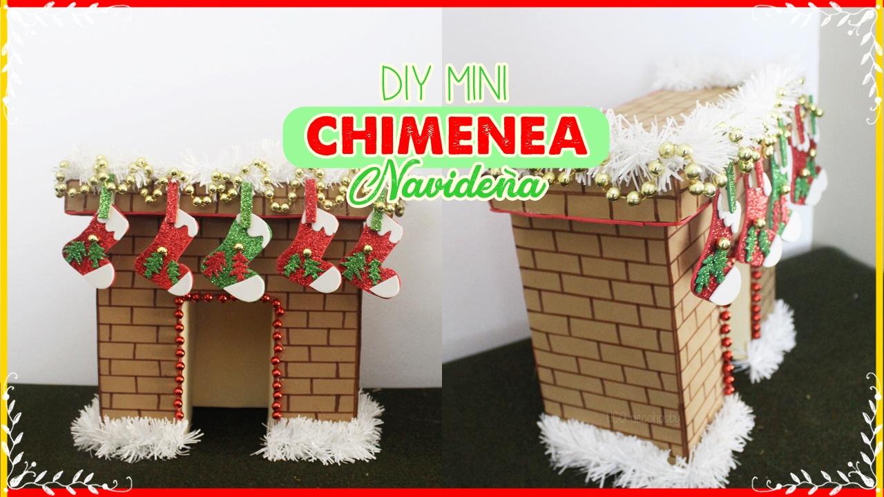 Hca decohobby diy mini chimenea navide a hecha con carton - Como construir una chimenea paso a paso ...