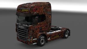 Scania R Batik Jepara skin mod