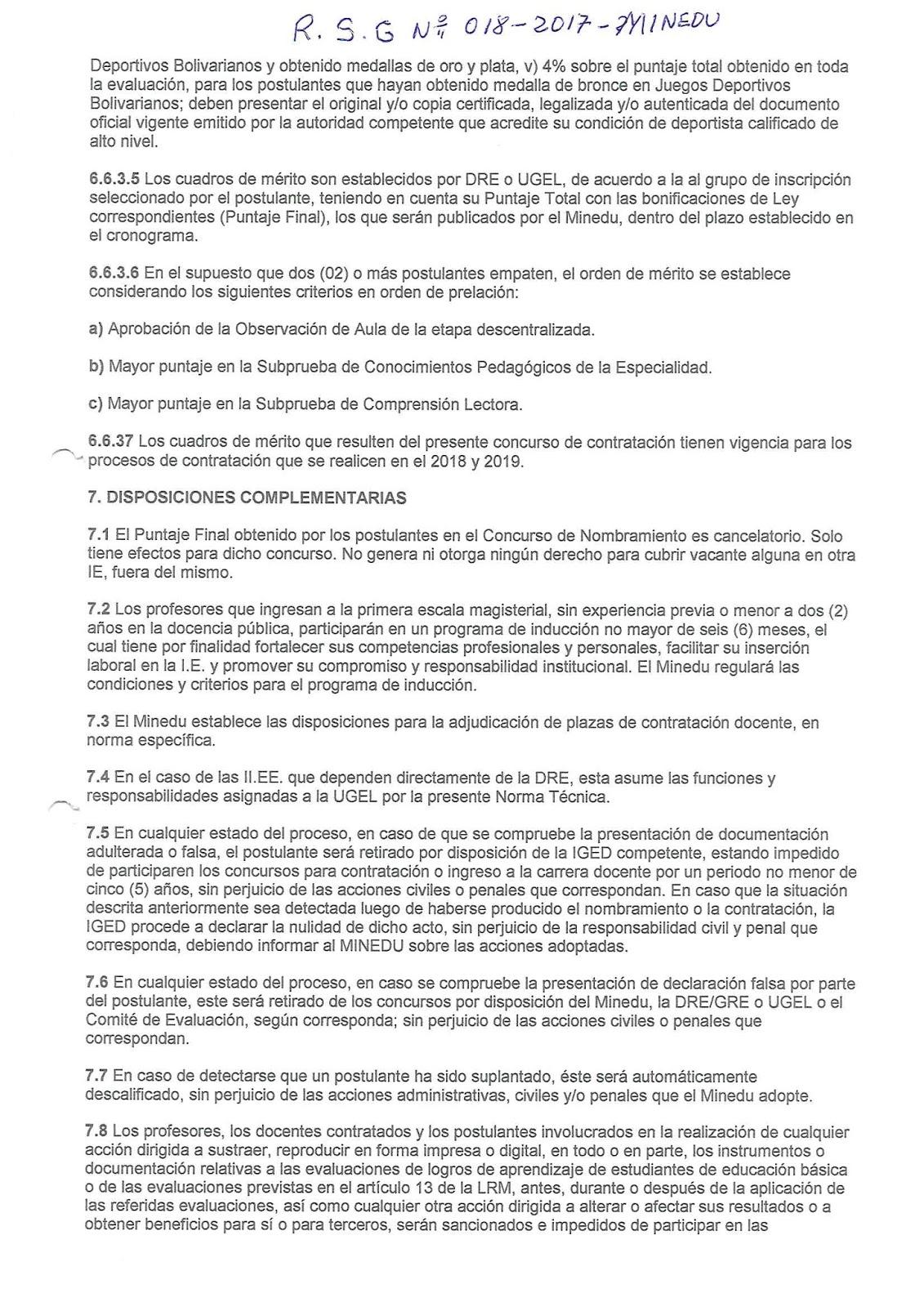 Ugel condesuyos etapa de contrataci n docente 2018 y for Convocatoria de plazas docentes 2017