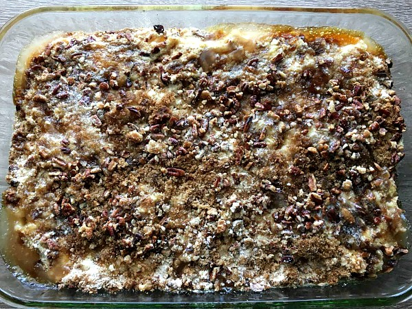 Apple Dump Cake baked from Walking on Sunshine Recipes