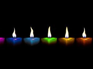 Uso de las velas según su color