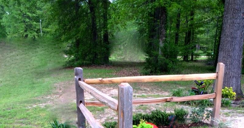 how to build a four post split rail fence