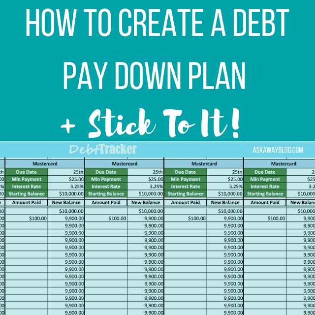 How To Create A Debt Pay Down Plan + Stick To It!