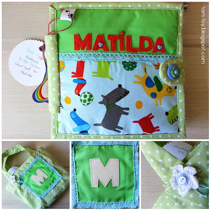 Quiet book for Matilda