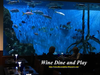 The Aquarium at RumFish Grill in St. Pete Beach, Florida has 33,500 gallons of water