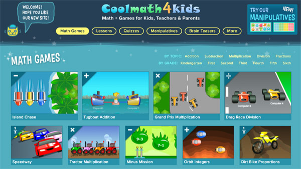 Divertidos juegos para practicar las operaciones matemáticas básicas en inglés