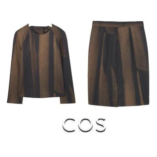 Queen Maxima - COS Gold Printed - Top -Skirt