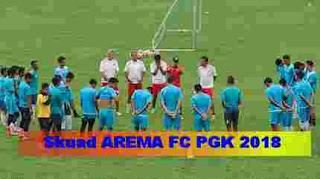 Skuad pemain Arema FC Piala Gubernur Kaltim 2018