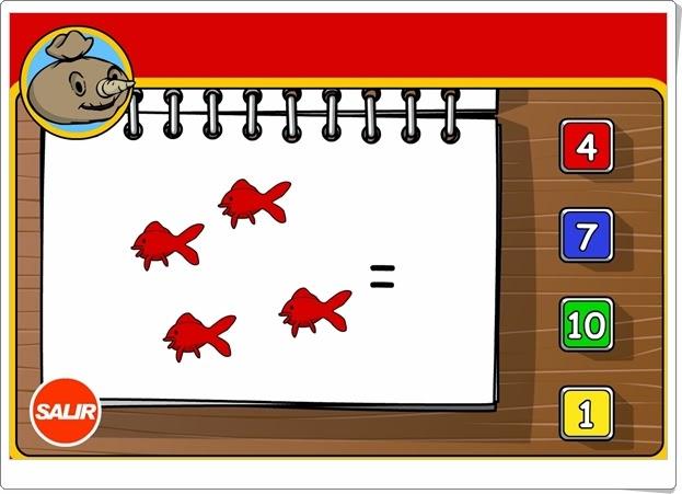 El juego de contar Números hasta el 10 para Educación Infantil