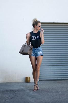 shorts con tacones